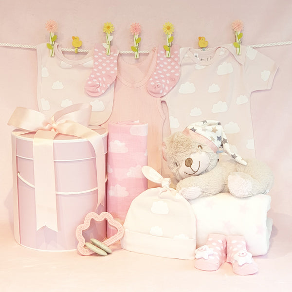 Baby Girl Gift Hamper Sleepy Bear