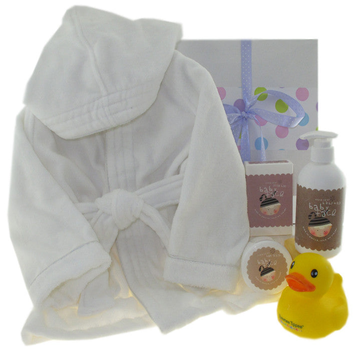 Baby Face Baby Bathrobe Hamper