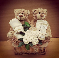 Organic Baby Twins Essentials Basket