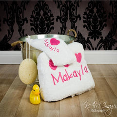 Little Girls Have Big Hearts Personalised Towel Set