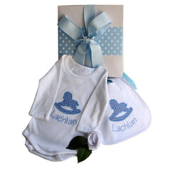 Sweet Dreams For Boys Personalised Baby Hamper