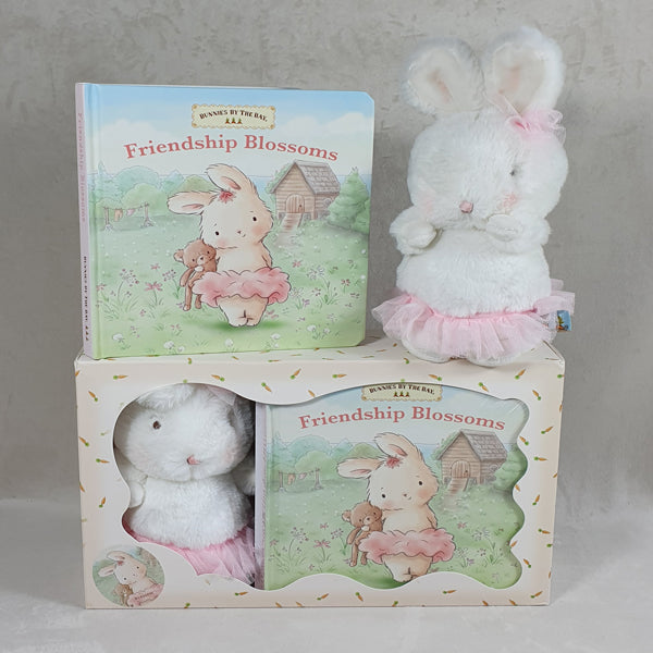 Little Blossom Baby Girl Bunny and Book set