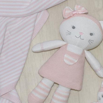 Knitted Soft Toy 100% Cotton Kitten
