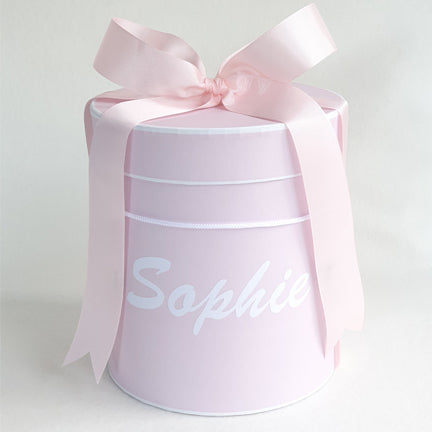 Personalised Gift Box Hat Box Pink