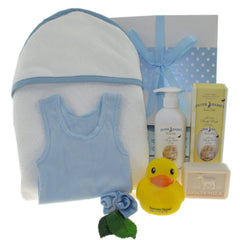 Baby Boy's Hooded Towel Hamper