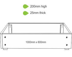 eWood Raised Garden Bed Kits - 1.0m x 0.6m