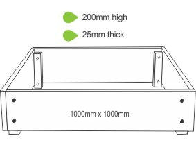 eWood Raised Garden Bed Kits - 1.0m x 1.0m