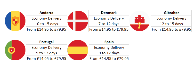 Shipping rates for Eurozone 2