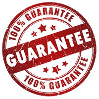 Our 100% guarantee rosette