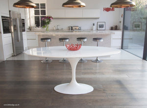 Main view of the 170cm white laminate oval Tulip Table