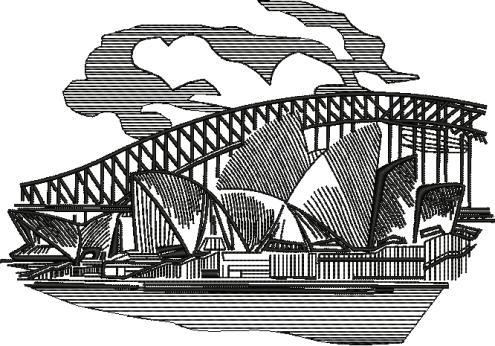Opera House Outline Art