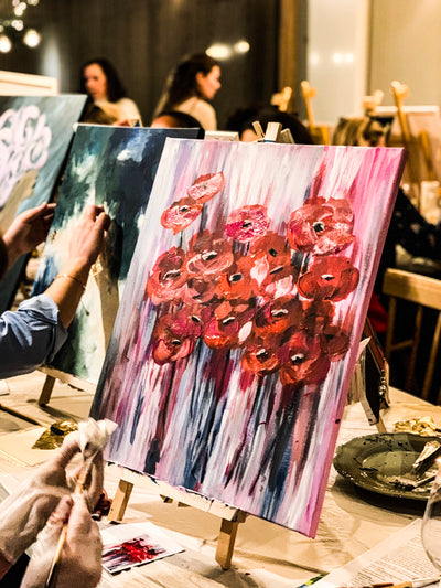 11/12/19- Gold Love and Roses Art Party