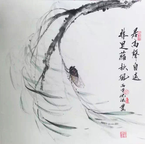 Academic,Chinese Culture,Chinese Painting,Zen,Cicada,Thoreau