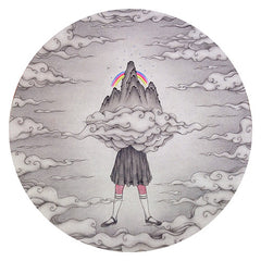 Academic,Childhood,Bird,Girl,Cloud,Zen,Painting On Paper