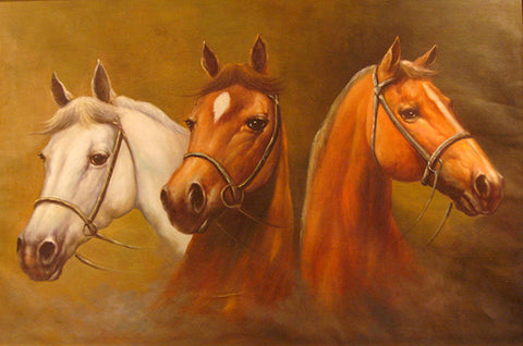 Horse,Hero,Animal Oil Painting