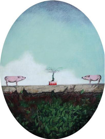 Academic,Contemporary Art China,Pig,Grow Up,Oil Painting