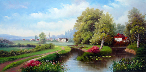 Oil Painting,Beautiful Countryside No.2