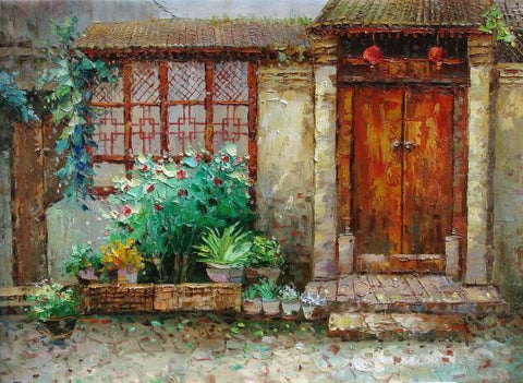 Oil Painting,Traditional Culture,Beijing Hu Tong, Hu Tong Home