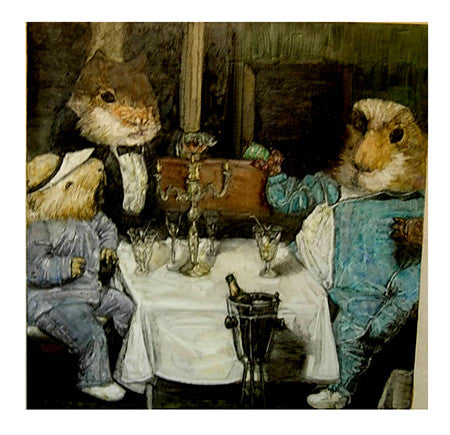 Contemporary Art China,Childhood,Guinea Pigs,Drink,Oil Painting