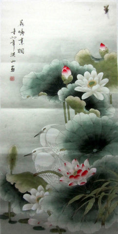 Chinese Painting,Traditional,Life Philosophy,Summer Lotus Pond Birds