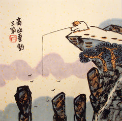 Chinese Painting,Traditional,Life Philosophy,Lao Tzu,Fishing