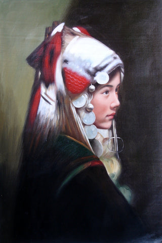 Girl,Miao Nationality Large Size No.1,Oil Painting