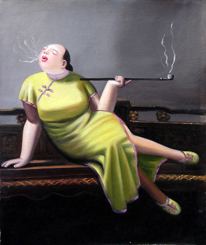 Fat Woman No.2,Oil Painting