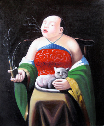 Fat Woman No.4,Oil Painting