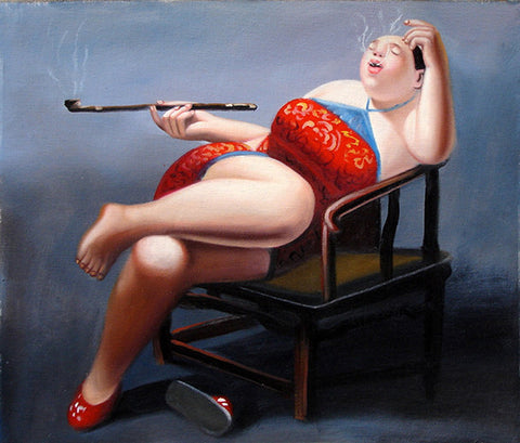 Fat Woman No.7,Oil Painting