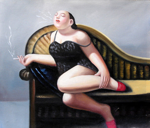 Fat Woman No.8,Oil Painting