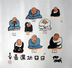 Academic,Chinese Painting,Prayer Classroom,Tibet,Zen