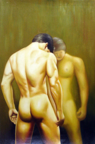 Body,Man,Lost,Oil Painting