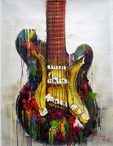 Guitar No.2,Abstract Painting,Rhythm,Music,Oil Painting