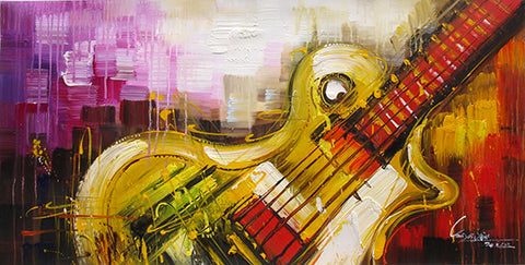 Guitar No.3,Abstract Painting,Rhythm,Music,Oil Painting