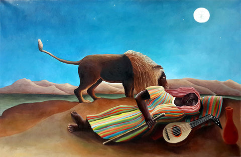Girl,Sleeping Gypsy,Henri Rousseau,Oil Painting