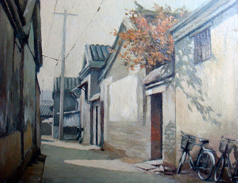 Academic,Beijing,Hu Tong,Traditional Culture,Quiet Life,Oil Painting