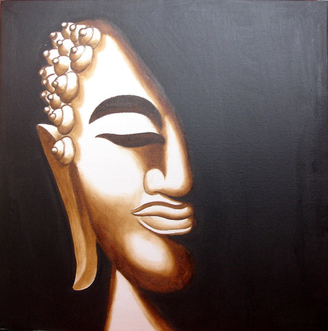 Bodhidharma Face,Silver Version No.3,Monk,Xin Jing,The Heart Of Prajna Paramita Sutra,Oil Painting,