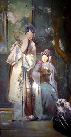 Oil Painting Girl Love Dream Kunqu Opera
