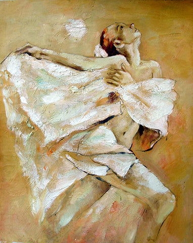 Girl,Ballet,Dancer,Oil Painting