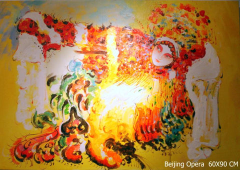 Best Selling,Beijing Opera,Dance,Beauty,Chinese Culture,Oil Painting