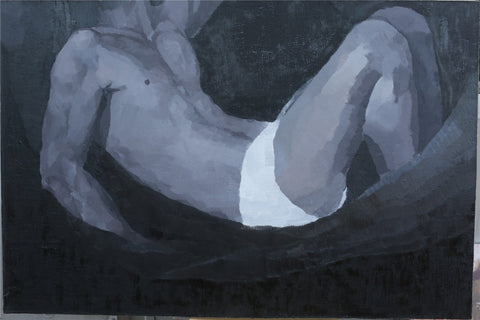Academic,Boy,Body History No.2,Contemporary Art China,Oil Painting