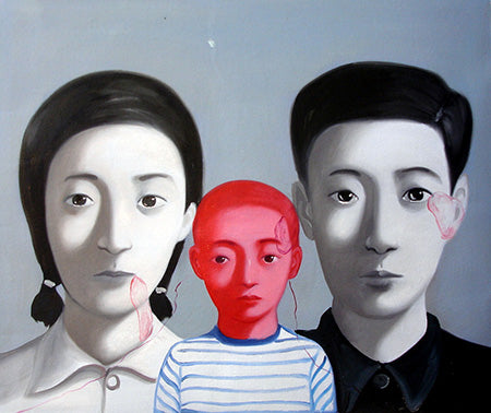 Contemporary Art,Chinese Family,Boy,Culture Revolution,Oil Painting