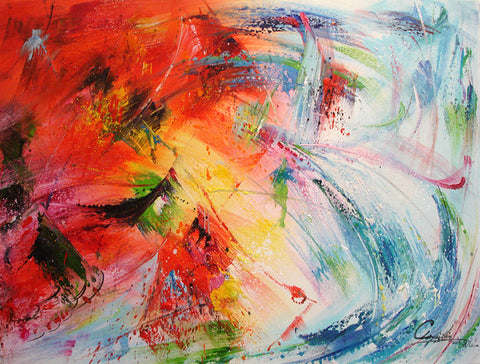 Colorful Life,Abstract Painting,Oil Painting