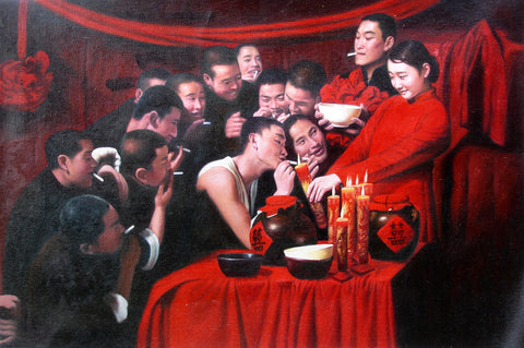 Best Selling, Countryside Wedding,Bride,Chinese Traditional,Oil Painting