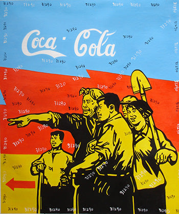 Culture Revolution,Coca Cola Go Village,Oil Painting