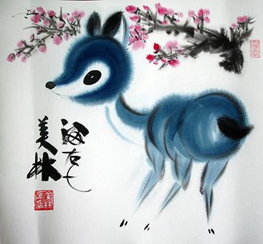 Best Selling,Chinese Painting,Deer No.1,Animal