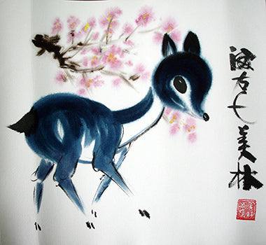 Chinese Painting,Deer No.2,Animal