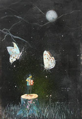 Academic,Dreaming Butterfly,Love,Fairy Tale,Acrylic on Paper
