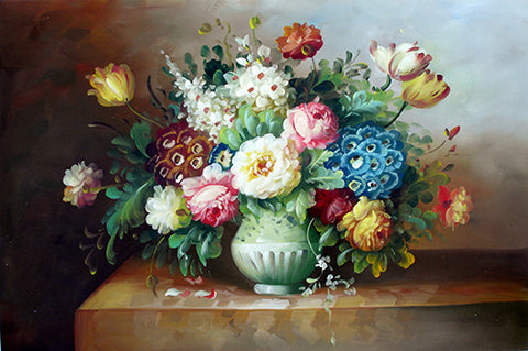 Flower No.8 Classical Flower Horizontal,Oil Painting