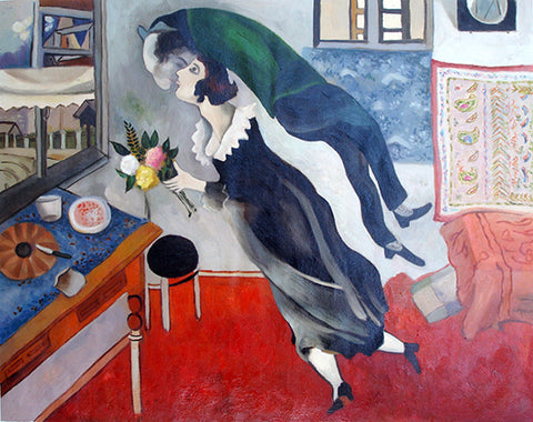 Best Selling,Birthday,Love,Chagall,Oil Painting